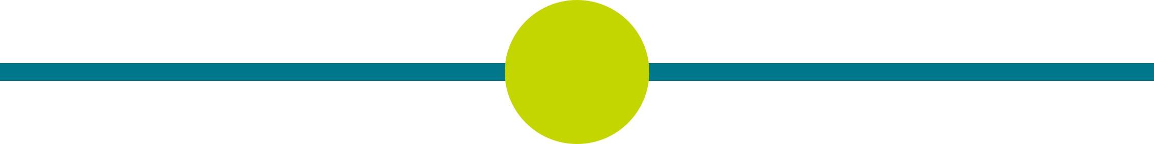 Punkt grün mit horizontalem Strich