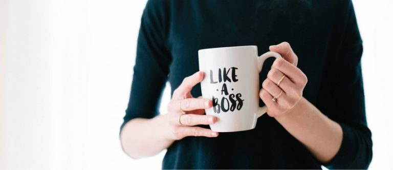 Tasse mit Schriftzug like a boss